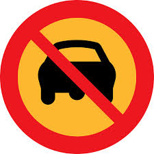 """no driving"" sign"
